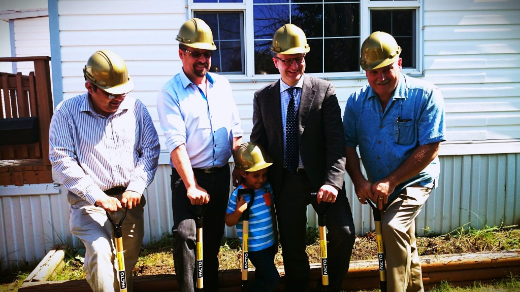 Habitat for Humanity Groundbreaking with Don Scott