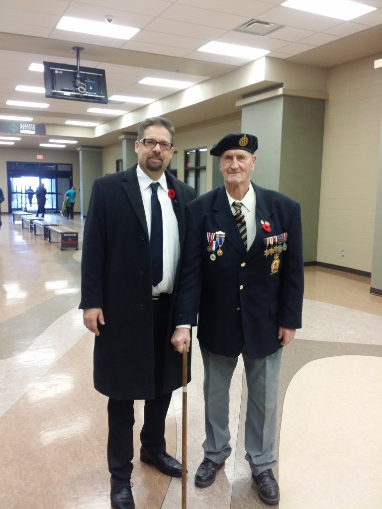 Remembrance day with Glen Meyer