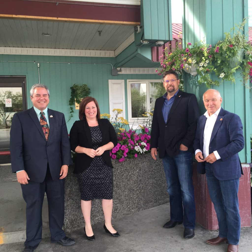 Meeting with Whitehorse Mayor Dan Curtis- From the Left to the Right- Mayor Dan Curtis, MP Shannon Stubbs, MP David Yurdiga, Senator Daniel Lang